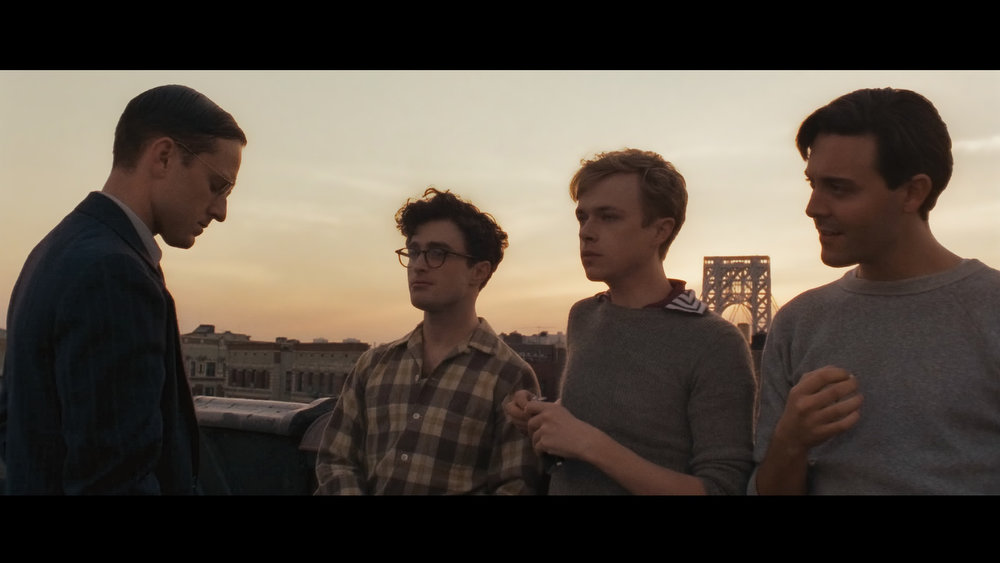 Description of . KILL YOUR DARLINGS: (U.S. Dramatic) Daniel Radcliffe stretches beyond Harry Potter, portraying a young Allen Ginsberg as he meets his future Beat Generation cohorts, Jack Kerouac and William Burroughs, amid a murder case at Columbia University in 1944.