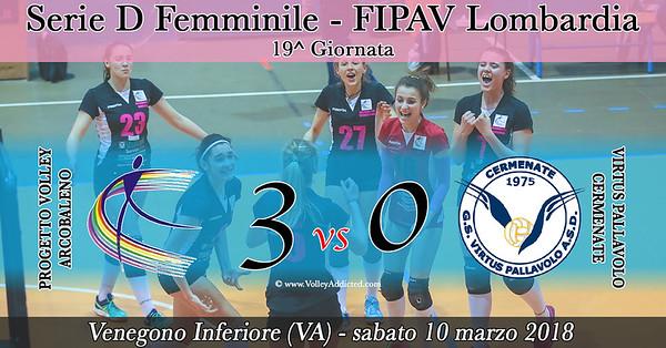 LOM-Df: Progetto Volley Arcobaleno - Virtus Cermenate