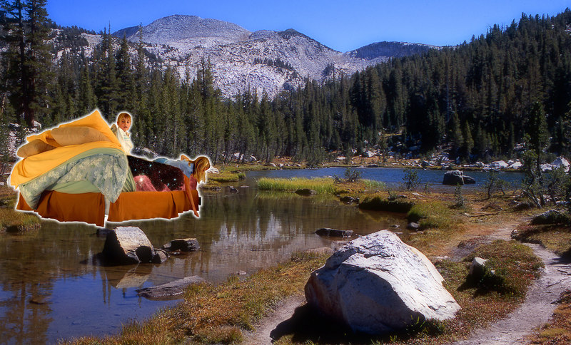 The Starbed glides through Yosemite National Park, near Tuolomne Meadows. We camped there with the Young ~ Wolffs (and the girls encountered their first camp-bear!)