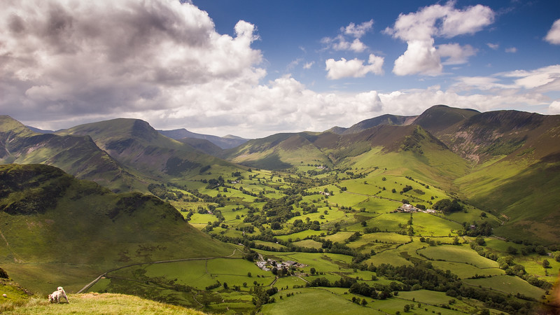 Newlands Valley Horseshoe in the Lake District