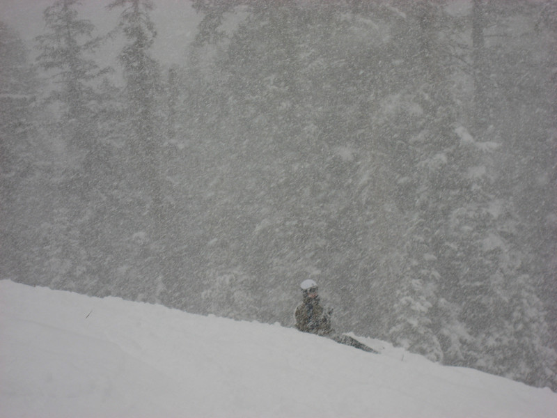 Dan, still resting, from an awesome powder run.