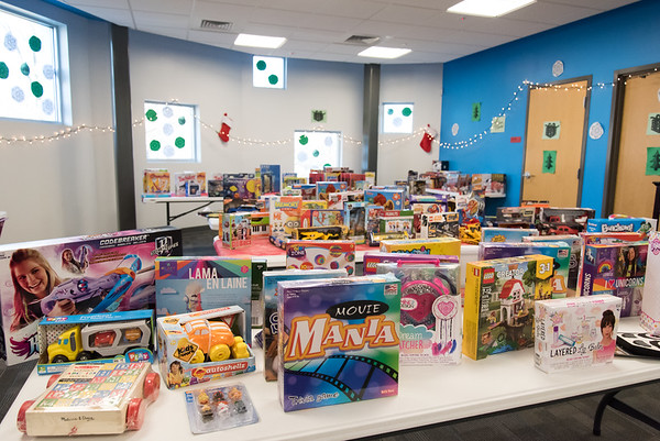 12/17/18 Wesley Bunnell | Staff Donated toys at the New Britain Housing Authority's 9th annual toy donation which took place Monday afternoon.