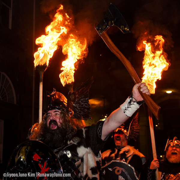 Up Helly Aa' Vikings at Edinburgh's Hogmanay Torchlight Procession 2014/15