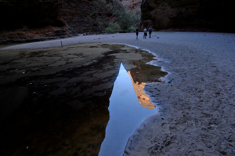 Bee Hive Dome Reflection in Pool, Purnululu National Park - Western Australia