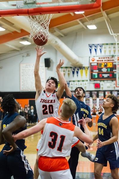 Roseville High School Varsity Boys Basketball vs Inderkum 2-8-19