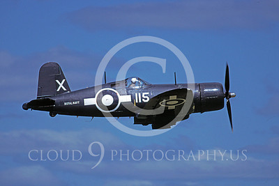 Flying British Royal Navy Chance Vought F4U Corsair Airplane Pictures