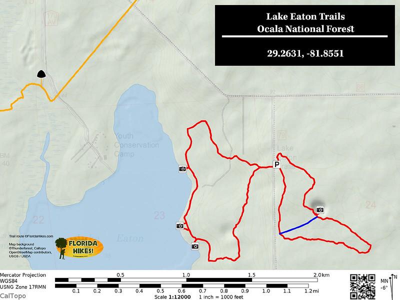Lake Eaton Trail Map