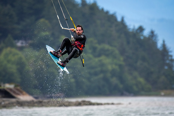 Kite Boarding at Cline Spit - 6/27/2020