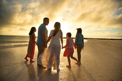 The Santiago Family- Honeymoon Island