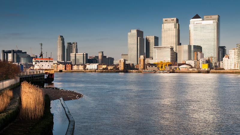 London Docklands office blocks