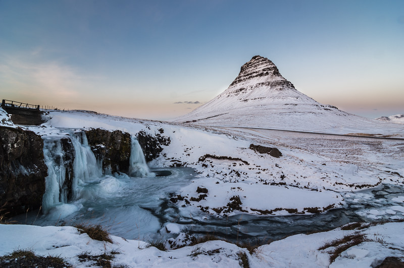 Kirkjufell with a darkening tone curve applied - This post shows different ways of using the possibilities that the RGB Tone Curve offers. The next one shows how to use the separate color curves.