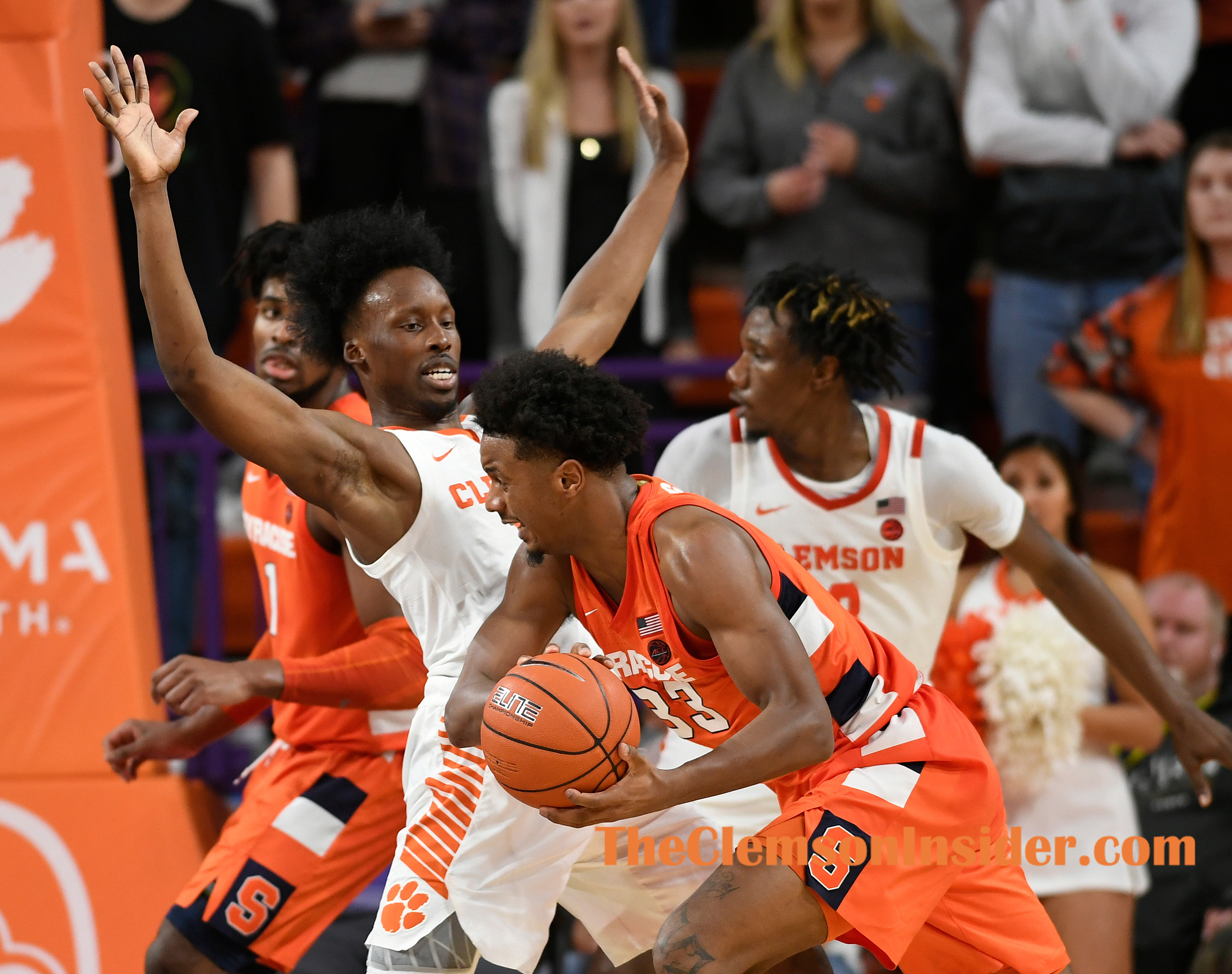 Clemson plays Syracuse Tuesday, January 28, 2020 at Clemson's Littlejohn Coliseum. Bart Boatwright/The Clemson Insider
