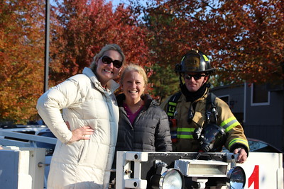 Raleigh Fire Station Ladder Truck Visit with TK