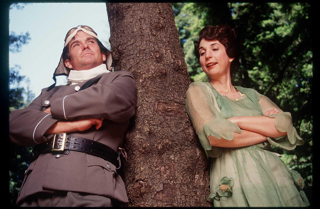 ". James Newcomb and Ursula Meyer in the Shakespeare Santa Cruz production of ""Much Ado About Nothing.\"" (Sentinel file)"