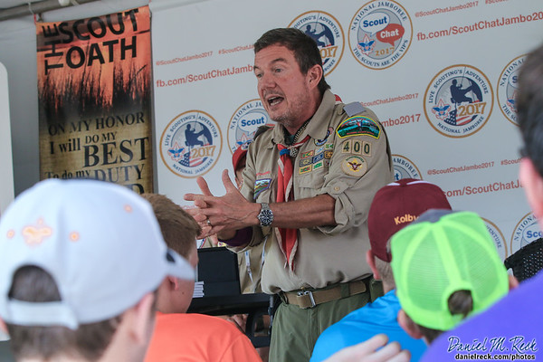 Terry Fossum Speaks to Scouts and Venturers