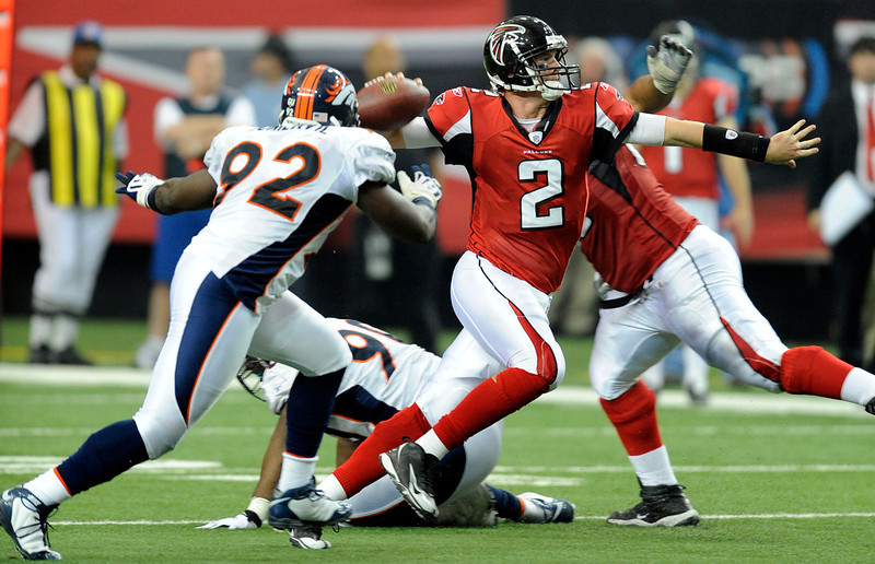 . Matt Ryan, Boston College Selected third overall by the Falcons 2008 Ryan has guided the Falcons to the playoffs in four of his five seasons � though he�s only compiled a 1-4 postseason record � and has a 56-22 record as a starter. He�s thrown twice as many touchdowns (127) as interceptions (60), and is a two-time Pro Bowler.  GRADE: A+. Will be among the elite quarterbacks in the NFL for several more seasons, and should eventually deliver Falcons fans some Super Bowl hardware. (John Leyba/The Denver Post)