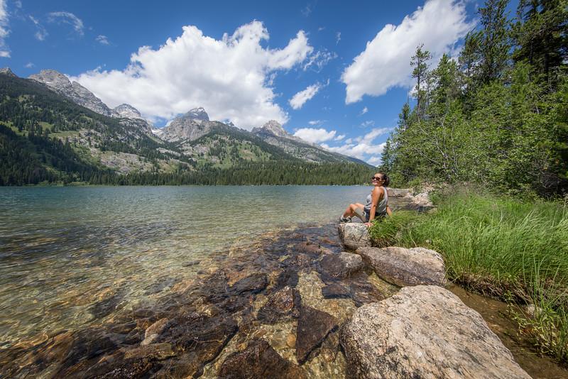 Relaxing at Bradley Lake