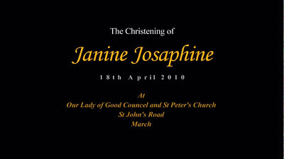 Janine Christening Video & Slideshow
