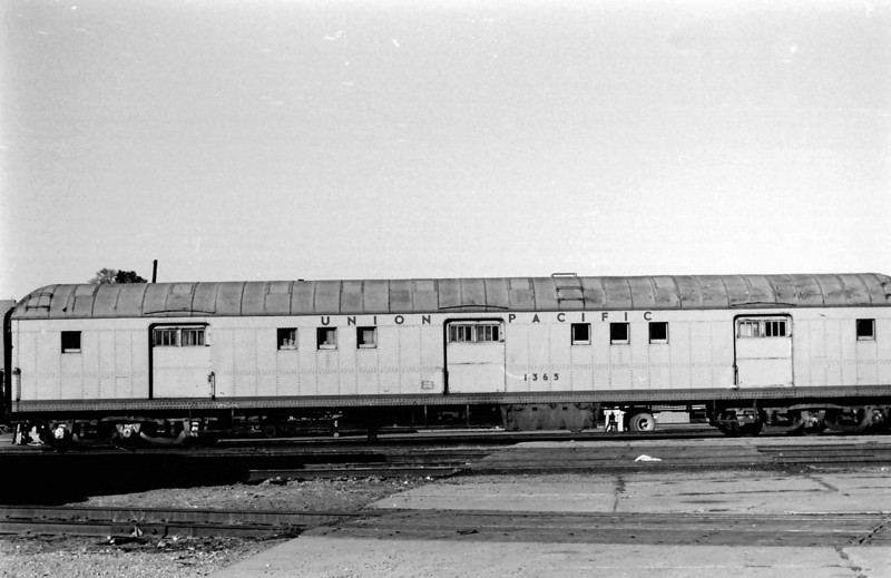 UP 1365, Horse Baggage Automobile, built as UP 1765 by AC&F in July 1929. Salt Lake City.