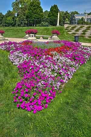 Sunken Garden annual floral displays at Garfield Park, Indianapolis