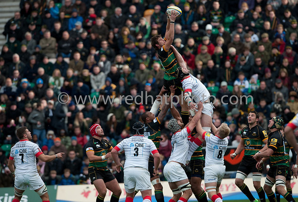 Northampton Saints vs Saracens, Aviva Premiership, Franklin's Gardens, 27 October 2012