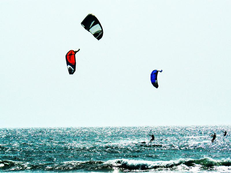 Kite surfing at George's