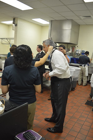 Dr. Cavazos Serving Lunch