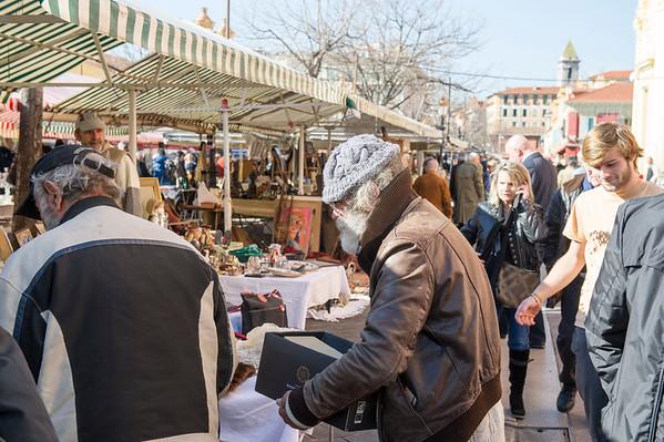 Blå mandag  på Blomstermarkedet i Nice