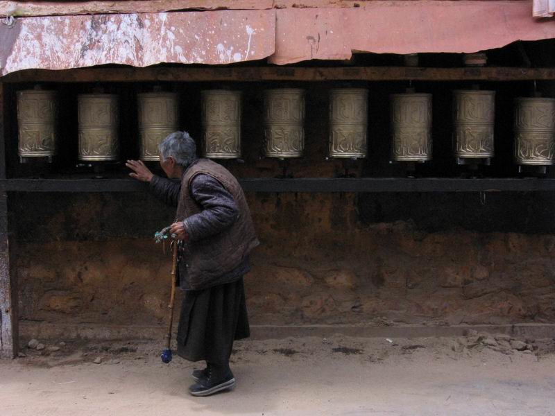 Spinning prayer wheels
