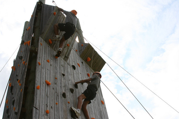 Adventure Climbs and Rappells the Tower