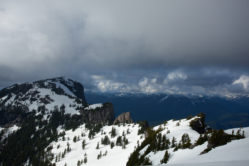 Looking back at Mt. Persis from the traverse towards Index