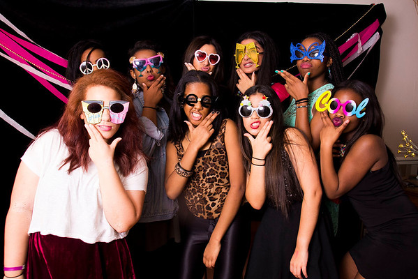 Lily's 16th party photo booth