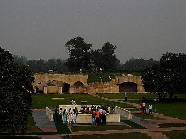 at Ghandi's flame, Delhi