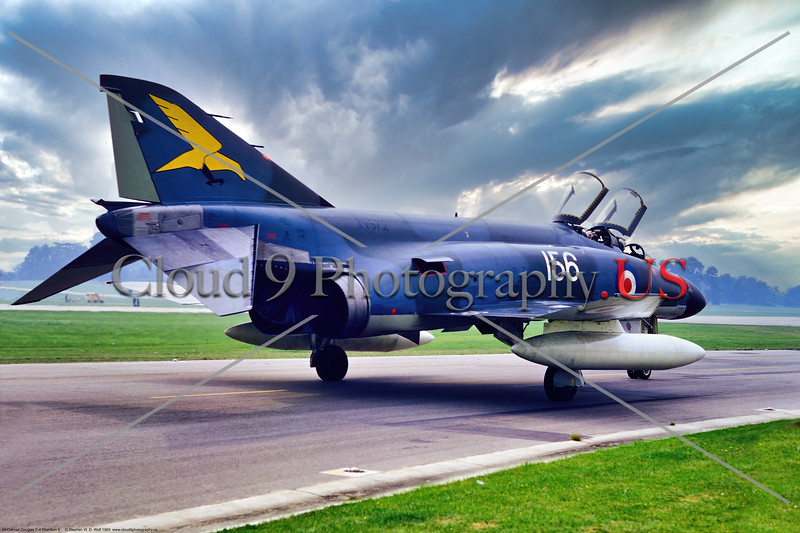 F-4-British 015 A taxing McDonnell Douglas F-4 Phantom II, British Royal Navy jet fighter, Sqd 767, XV572, 6-1969 Yeoviton, military airplane picture by Stephen W. D. Wolf     853_8045     Dt.JPG