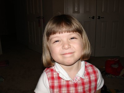 Lauren's Haircut 2-20-05