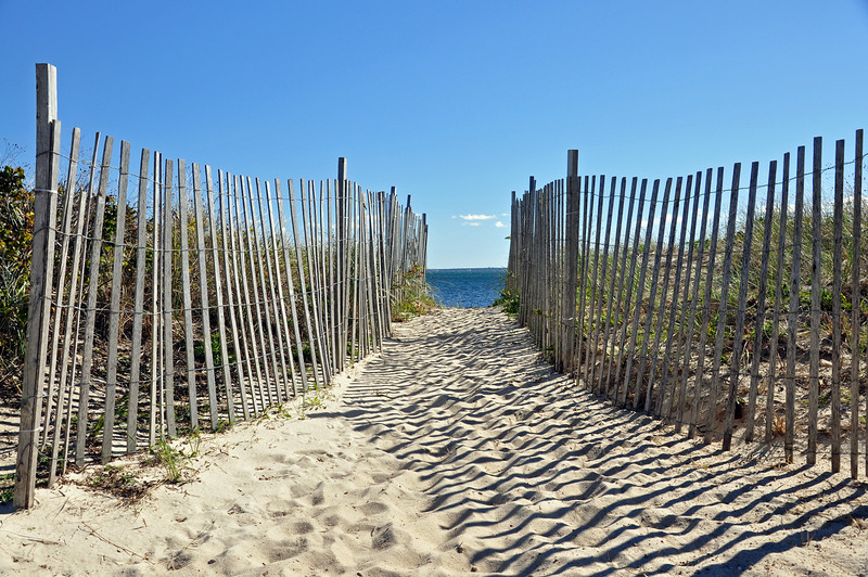 Path to the beach in Falmouth, Ma
