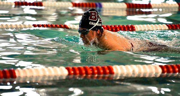 10/12/2019 Mike Orazzi | StaffrBristol Central's Samantha Chapman during the city swim meet on Saturday night.