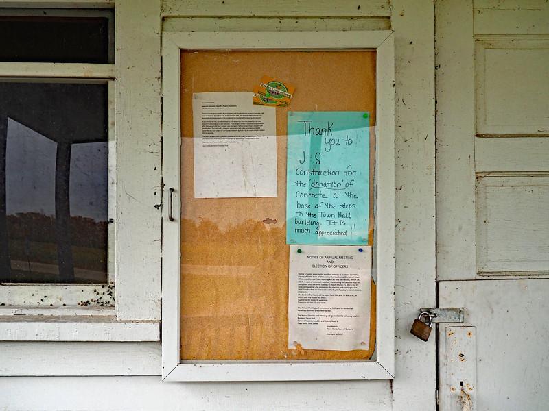 Burleene Township notice board