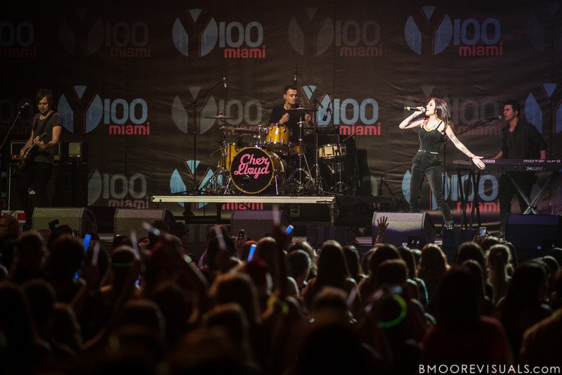 Cher Lloyd performs on December 8, 2012 during the Y100 Jingle Ball at BB&T Center in Sunrise, Florida