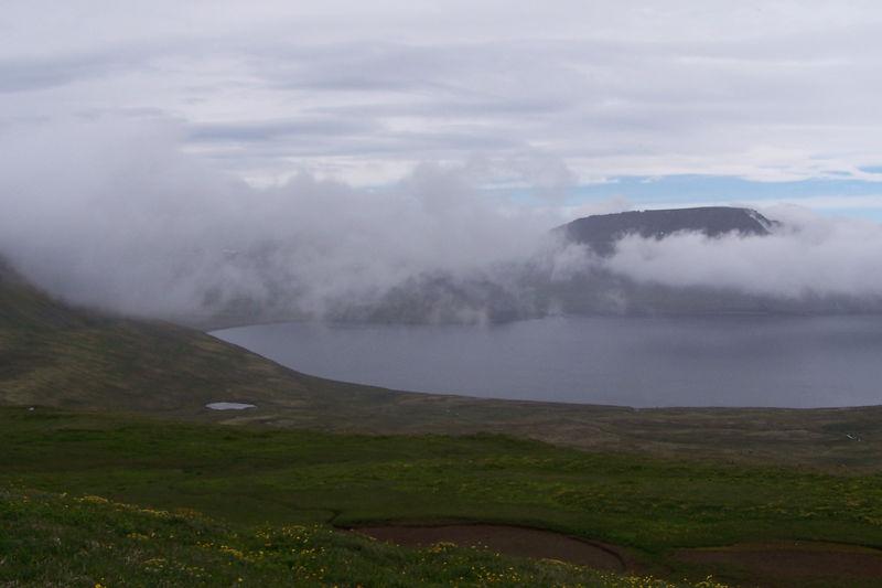 Horft yfir Innstadal út á Hornvík