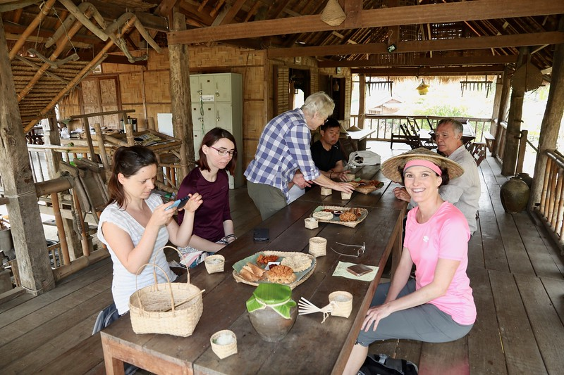 Lastly we got to taste various things made from the rice grown at the farm: rice cakes, rice cookies, thin fried rice paper, etc.