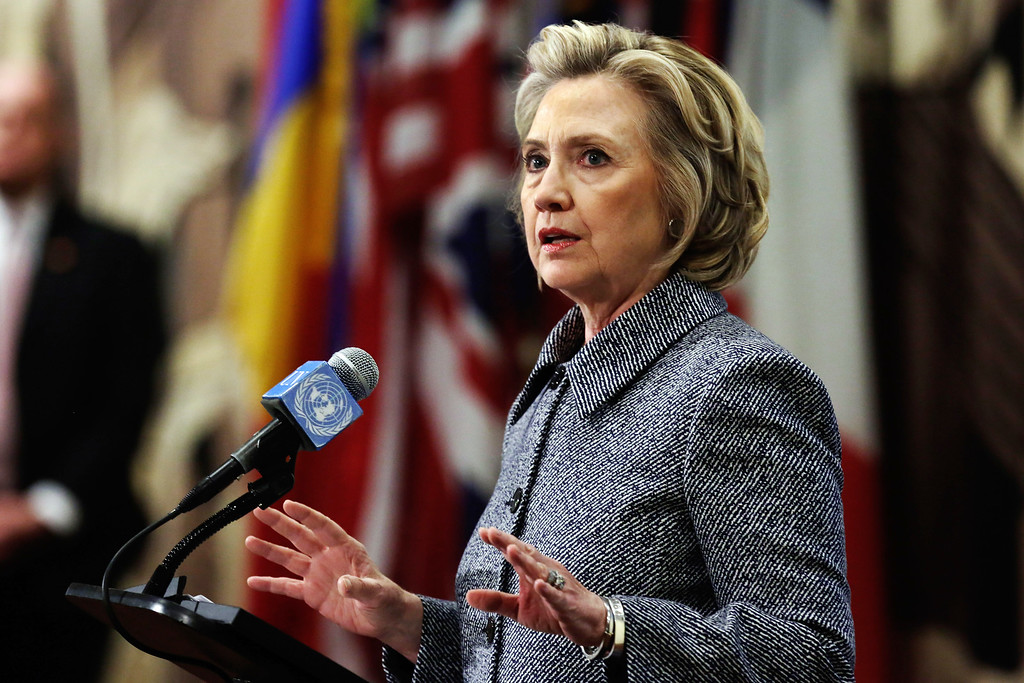 ". Hillary Rodham Clinton answers questions at a news conference at the United Nations, Tuesday, March 10, 2015.   Clinton conceded that she should have used a government email to conduct business as secretary of state, saying her decision was simply a matter of ""convenience.\"" (AP Photo/Richard Drew)"