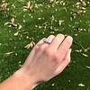 4.70ctw Antique Cushion Cut Trilogy Ring, GIA J/K VS 4