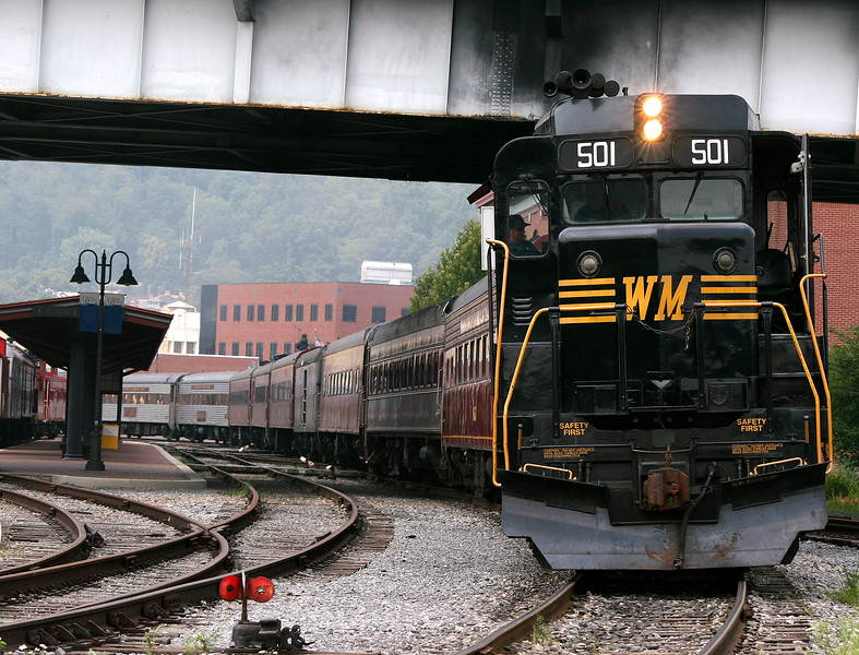 Dielse #501 at the Cumberland station Western Maryland Scenic Railroad
