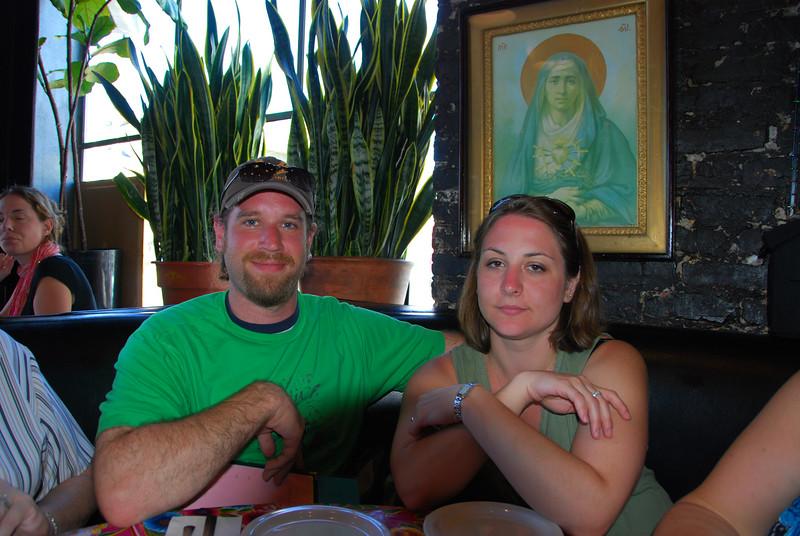 John and Megan at Cha Cha Cha's.