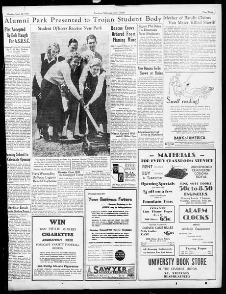 Daily Trojan, Vol. 26, No. 2, September 24, 1934