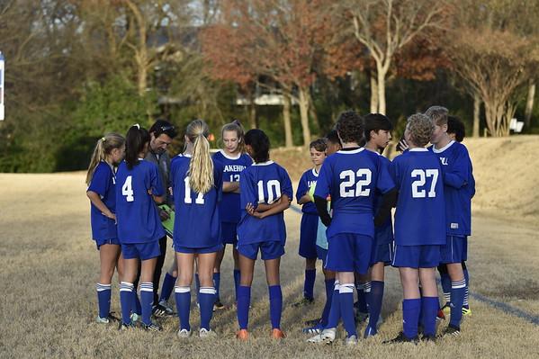 Middle School Soccer vs Dallas Covenant 12.3.18