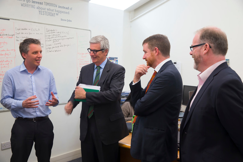 16/05/2017. Pictured at WIT ArcLabs where the Australian ambassador Richard Andrews visited. Pictured are Eric Robson WIT, David Watson, Senior Trade and Investment Commissioner, Australian ambassador Richard Andrews and Ciaran Cullen. Picture: Patrick Browne
