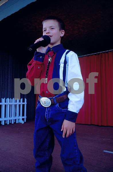 Jared Wagner, 10-year old singer star, August 17, 2000, in Cusick, WA.