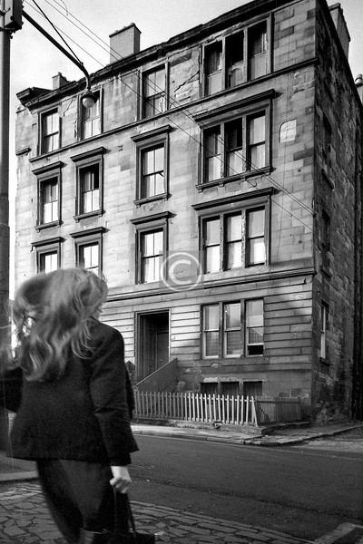 Scott St., west side south of Dalhousie Lane.   February 1976